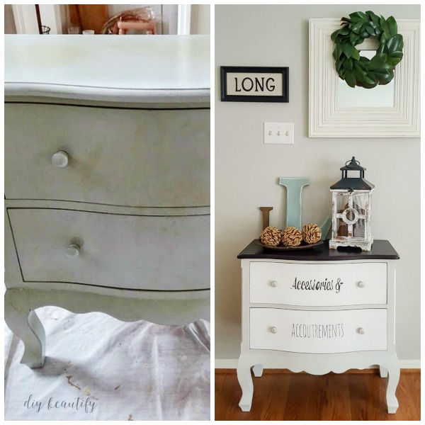 chalky painted dresser before and after