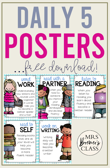 Free Daily 5 Posters for the Classroom