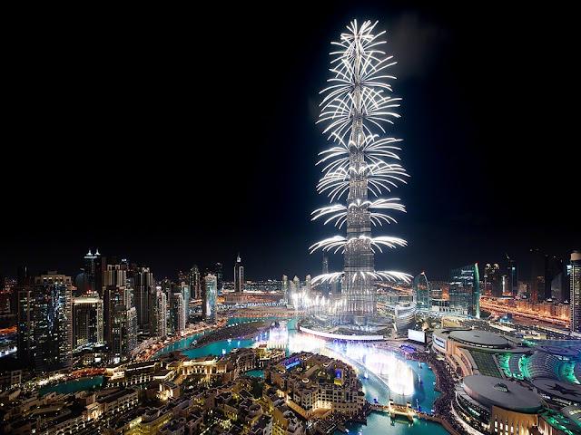 Happy New Year 2018 Celebration in Dubai