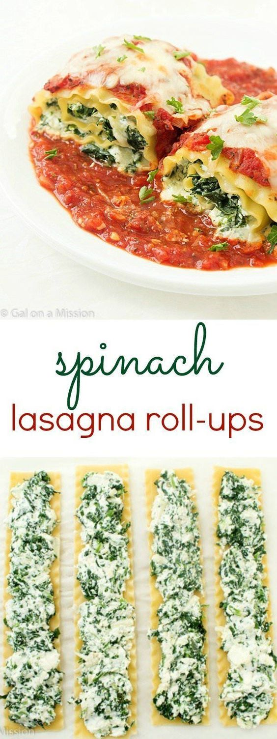 Spinach Lasagna Roll-Up