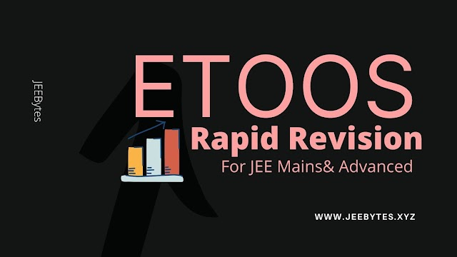 Etoos: Rapid Revision Complete  Crash Course For JEE Mains& Advanced 2020-21