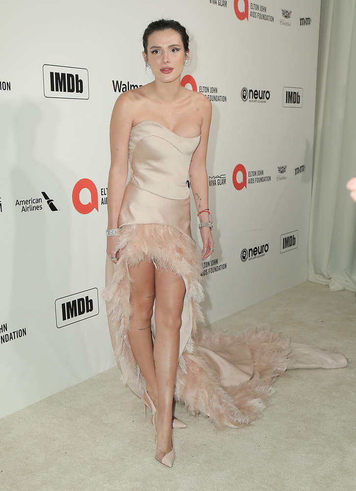 Bella Thorne attends the 28th Annual Elton John AIDS Foundation Academy Awards Viewing Party