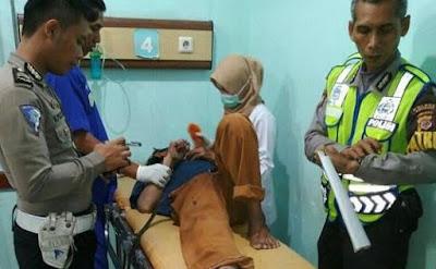 Seorang Pria Mengalami Luka Berat Akibat Tabrak Lari di Jatisari