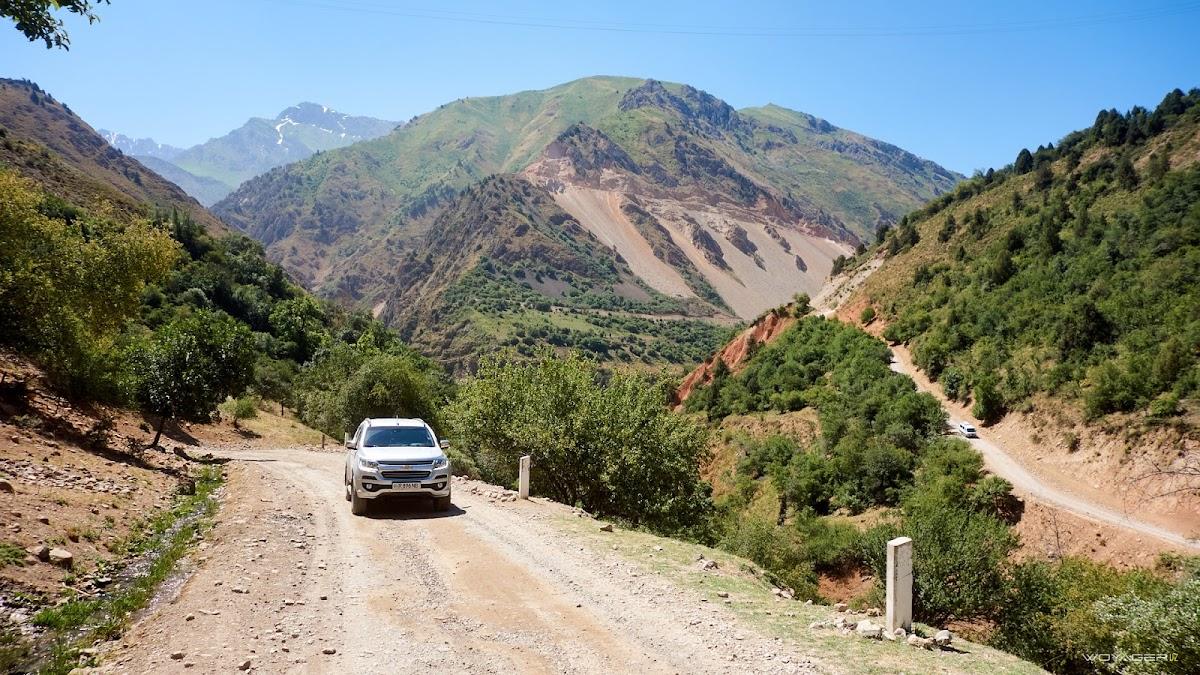 дорога по ущелью Тепарсая