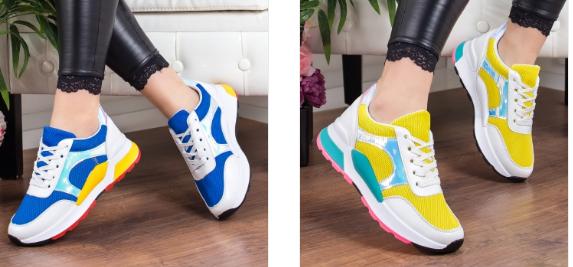 Pantofi sport dama noi ieftini multicolori la moda