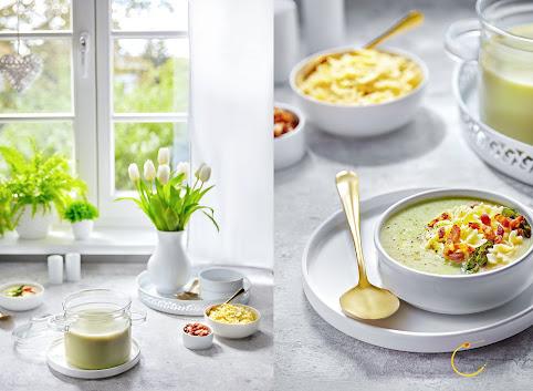 Zupa krem 100% szparagowa (bez ziemniaków i innych zagęstników) z makaronem