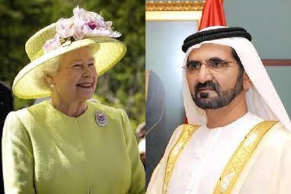 محمد بن راشد يملك في بريطانيا ما لا تملك إليزابيث الثانية