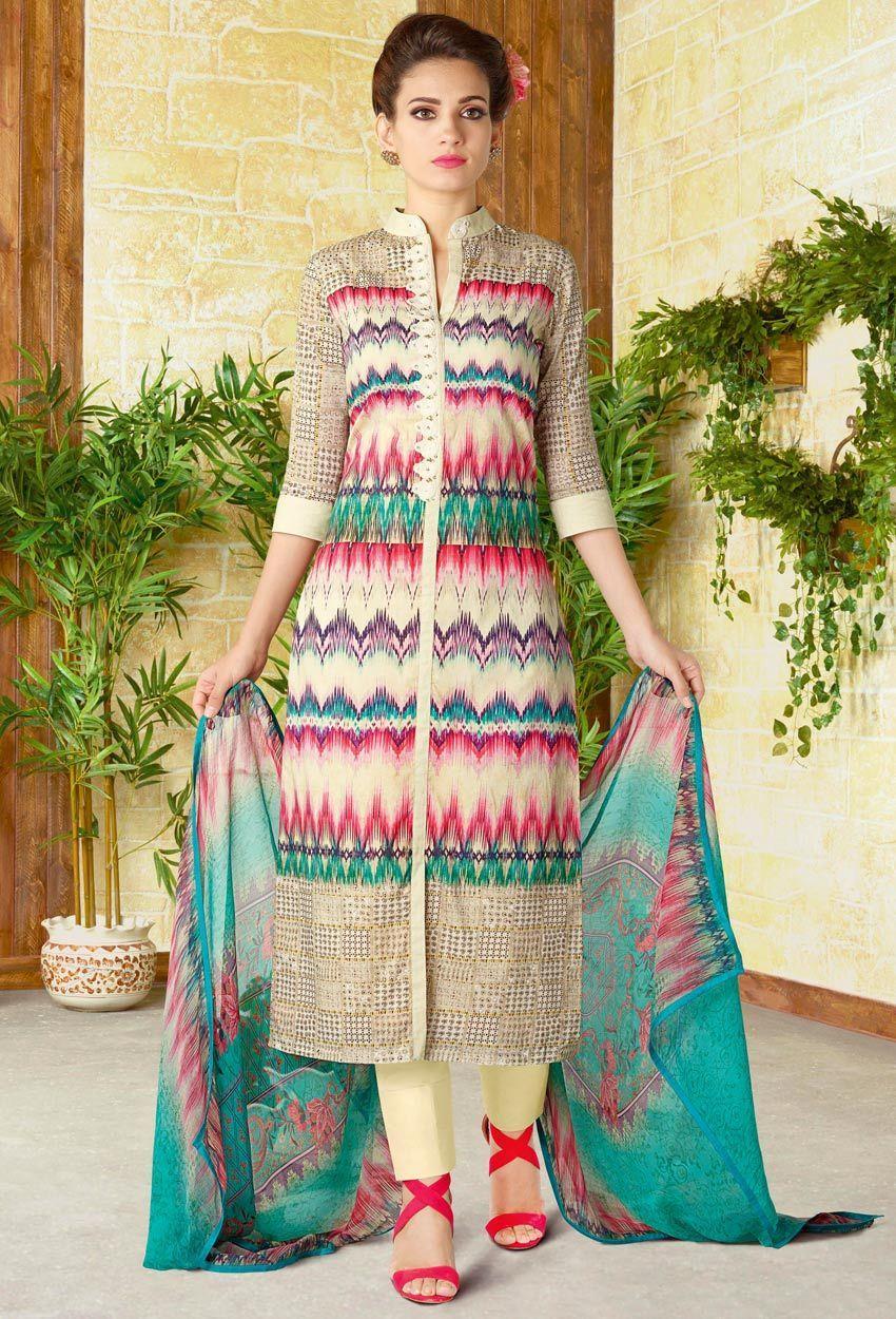 Beautiful pant-style Salwar Suit
