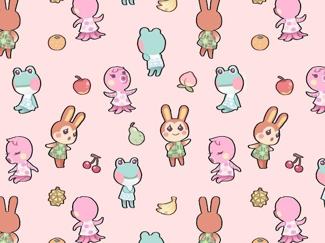 kawaii animal crossing wallpaper