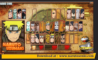 Select Menu Naruto Senki Shinobi Collection Mod Apk by Said