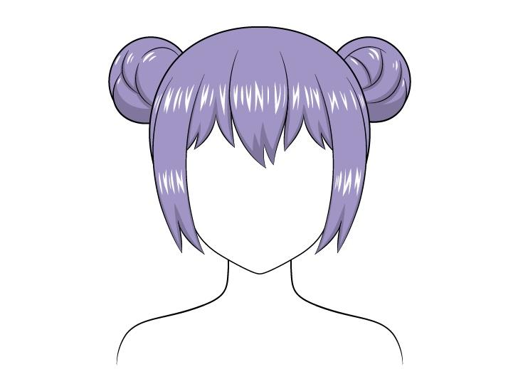 Roti rambut anime menyoroti gambar