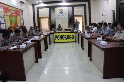 Polres Ponorogo: Rapat Koordinasi Percepatan Program Vaksinasi Covid-19