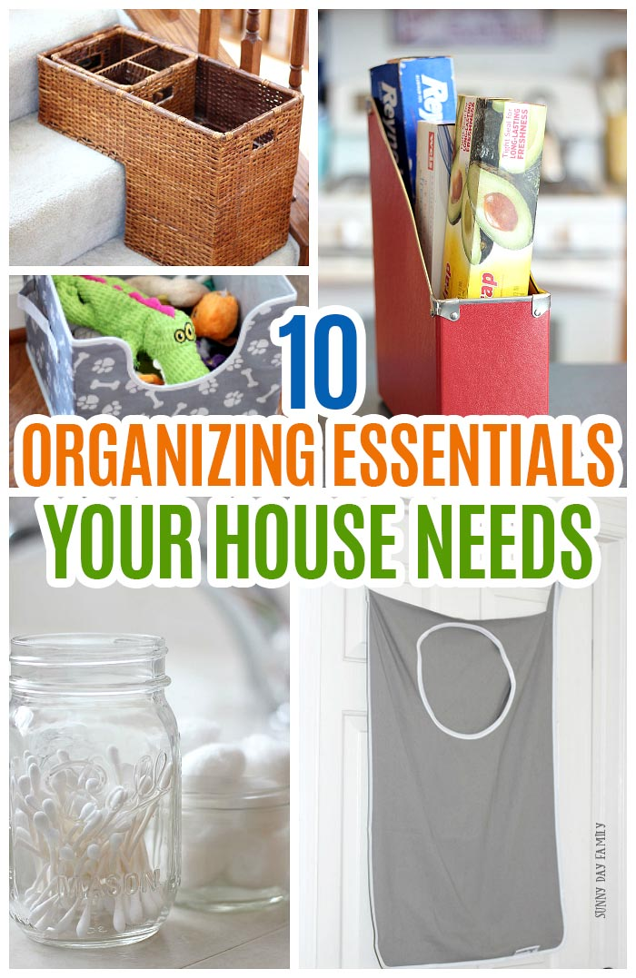 Ready to organize your house? You NEED these things to make it easy and inexpensive. These 10 things will help you declutter, simplify, and organize your home to make your life easier. Super easy organizing ideas, organizing hacks, home organizing tips, and easy DIY organizing projects you can do today. Love these! #organization #organizing #homeorganizing #organizingtips #organizinghacks