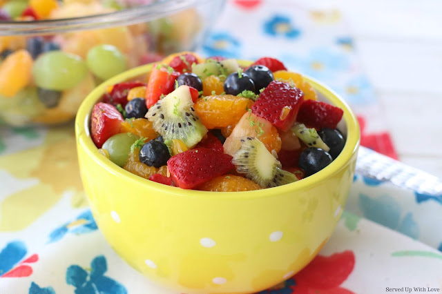 Easy Honey Lime Fruit Salad recipe from Served Up With Love