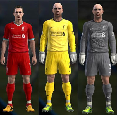 Liverpool 2020-2021 Leaked Kits For PES 2013