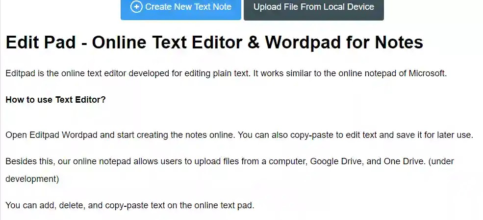 editpad online wordeditor