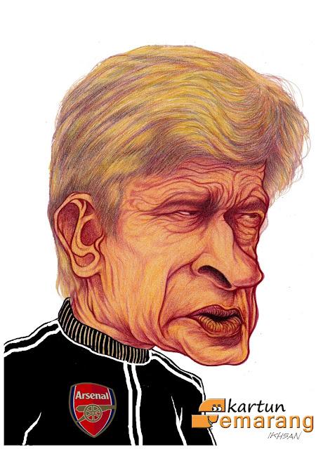 Caricature Arsene Wenger by Ikhsan Dwiono