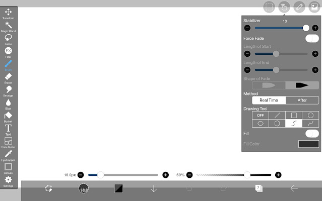 Drawing Tool:Bezier Curve in ibisPaint X