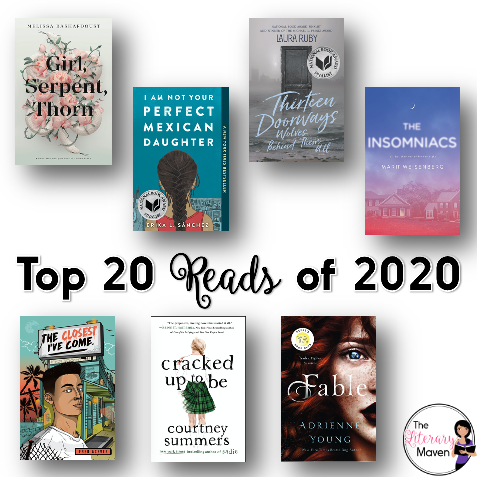 While I may not have reached my reading goal for 2020, I still read so many amazing books. Here's my top 20 including middle grades, young adult, and adult titles.