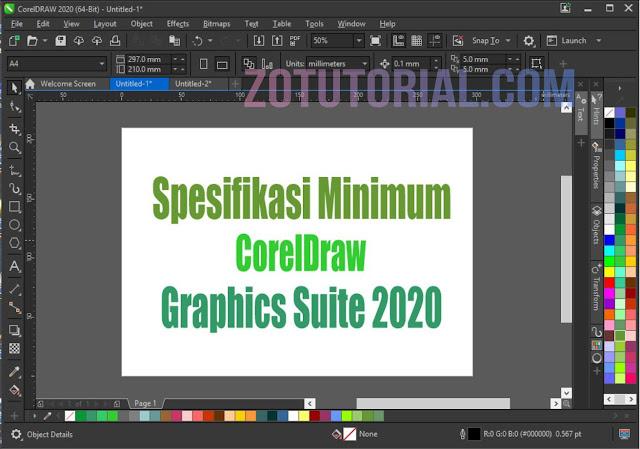 Spesifikasi Minimum CorelDRAW 2020 di Laptop/PC Windows dan MacOS