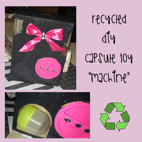 DIY Recycled / Upcycled Capsule Toy Machine (Gashapon/Gachapon) - Recyling Capsule Chix Packaging