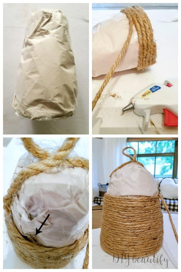 steps to DIY bee skep