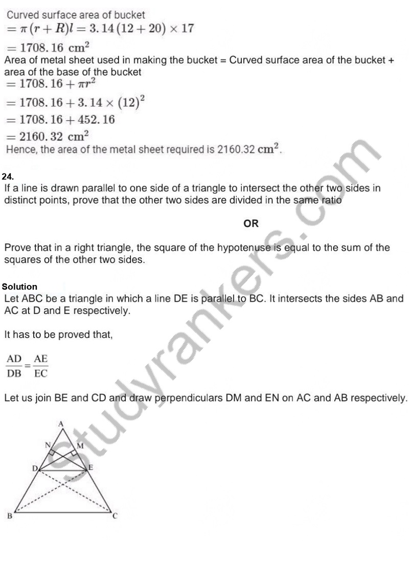 Previous Year Question Paper for CBSE Class 10 Maths 2019 Part 22