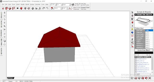 Ecotect Analysis : Cara membuat jendela dan pintu
