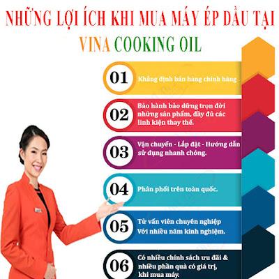 khách hàng ở Thái Nguyên hưởng rất nhiều lợi ích khi mua máy ép dầu tại Vina Cooking Oil