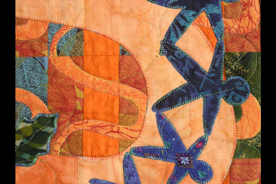 Making Waves wall quilt detail photo