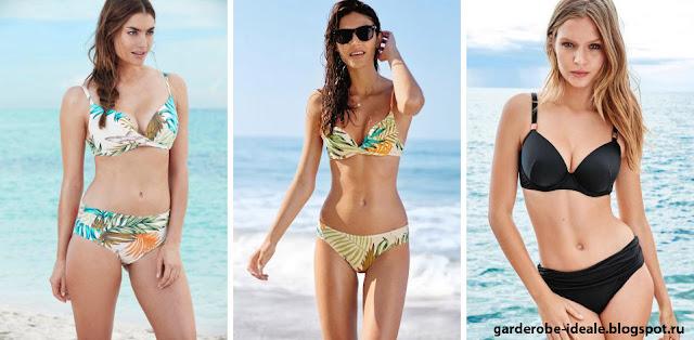 Девушки в купальниках с подчеркнутой грудью