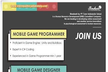 Lowongan Kerja Bandung Mobile Programmer & Designer