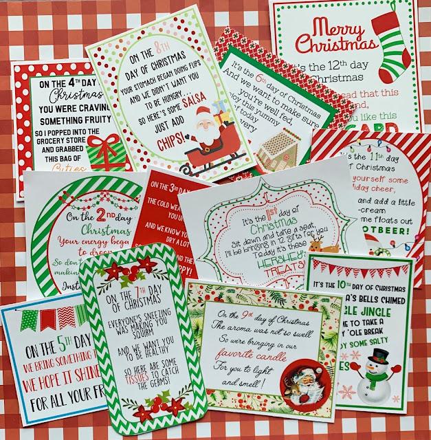 25 Days Of Christmas 2019.Marci Coombs New 12 Days Of Christmas Printables