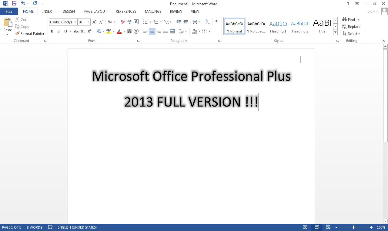 microsoft office professional 2013 full version