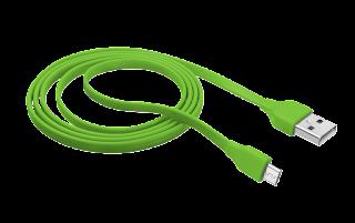 TRUST CAVO PIATTO MICRO USB 1M VERDE 20138