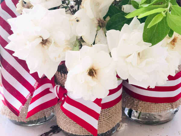 Patriotic Mason Jars for Summer and Spring Inspiration