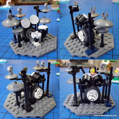 How to make a LEGO Drum Kit model cowbell hi hat