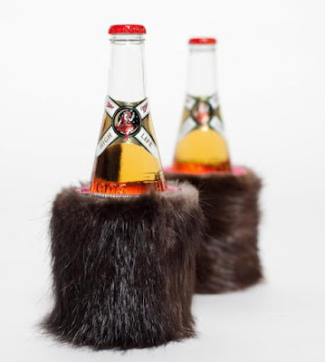 Beaver Fur Can Koozie