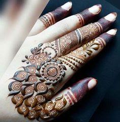 Easy Mehndi designs for fingers