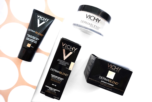 Review | Vichy Dermablend Corrective Fluid Foundation and Setting Powder