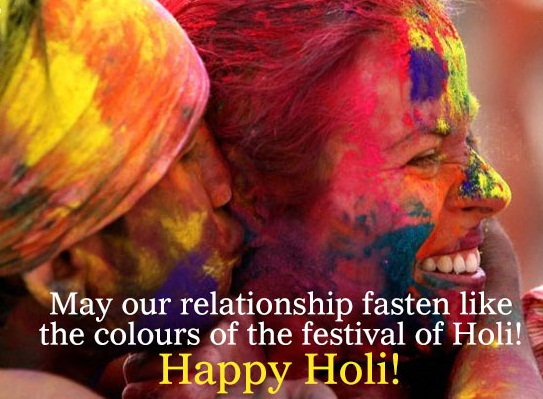 Happy Holi Quotes Wishes Sms for Girlfriend BF Facebook Status
