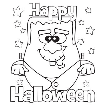 Happy Halloween Pictures To Color, Halloween Pictures Coloring Pages To Print