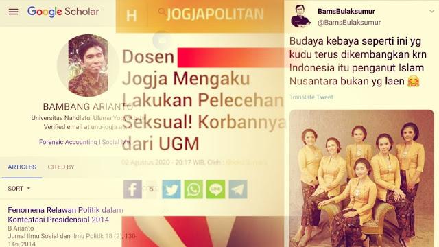 Bambang 'Swinger' Dosen UNU Yogya, Penganut Aliran Nusantara dan Penulis di Situs Revolusi Mental