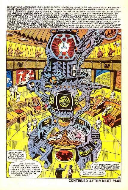 Strange Tales v1 #162 nick fury shield comic book page art by Jim Steranko
