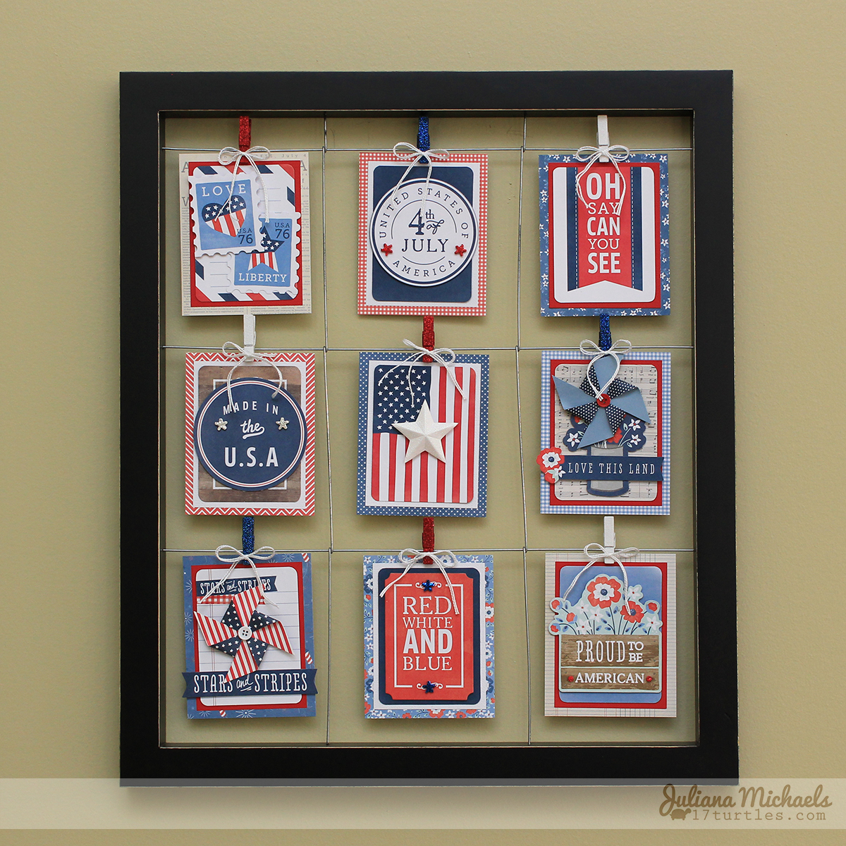 Patriotic Clip Frame Juliana Michaels Pebbles Inc Americana #patriotichomedecor
