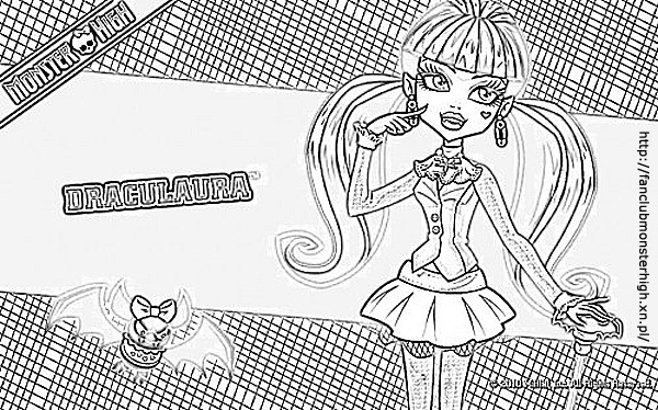 Top Kolorowanki Monster High Draculaura Najlepsze Kolorowanki