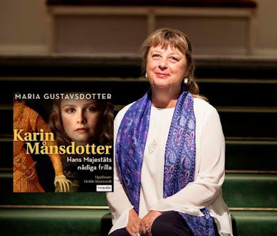 Maria Gustavsdotter med infällt bokomslag