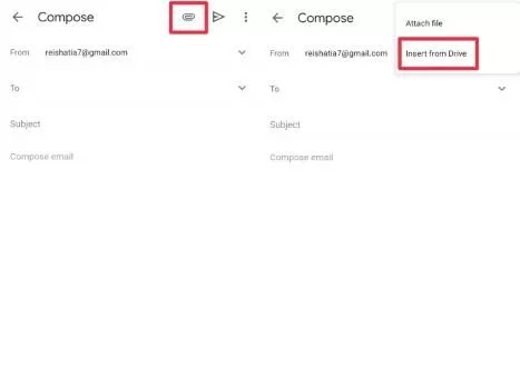 How to send files via Google Drive
