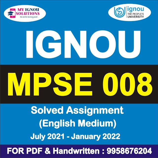 MPSE 008 Solved Assignment 2021-22
