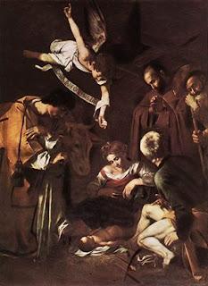"""""""Natividade"""" de Caravaggio, tela infelizmente roubada Caravaggio, excursões com guias de turismo em português"""